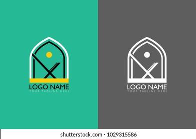 Islamic religion abstract vector and logo design