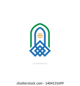Islamic School Logo for Islam Education Vector Image