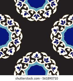 Islamic seamless pattern. Ottoman motifs.