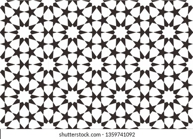 Islamic square geometric repeating patterns are very flexible.  They have been used often in wall decorations, windows, panels, columns, stained glass, tiles, rugs, ceilings and floor decorations.