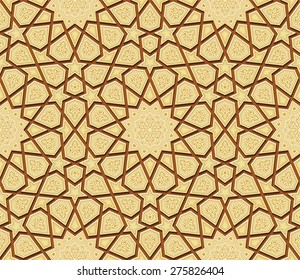 Islamic Star Ornament Background, Vector Illustration