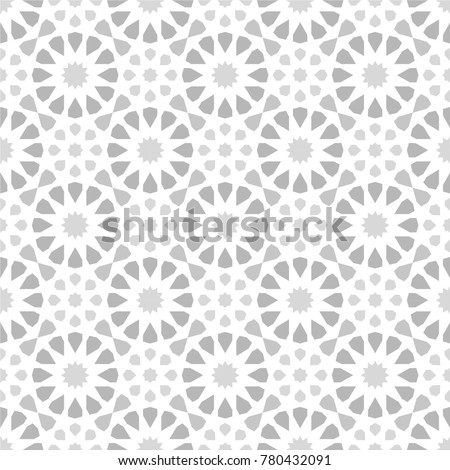 Islamic Texture Background Mosaic Pattern Grey