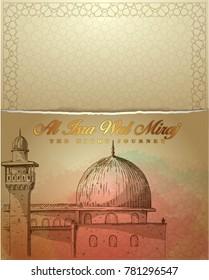 islamic themed isra wal miraj