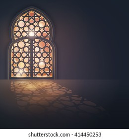 Islamic vector design greeting card background islamic design banner