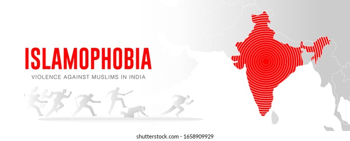 Islamophobia, violence against muslim in New Delhi, India. Anti-Muslim riots in India 2020. Alarming violence against Muslims