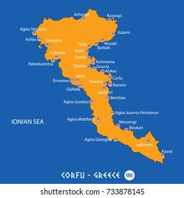 Corfu Map Images Stock Photos Vectors Shutterstock