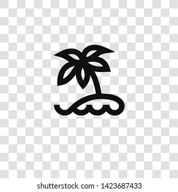 island icon from miscellaneous collection for mobile concept and web apps icon. Transparent outline, thin line island icon for website design and mobile, app development