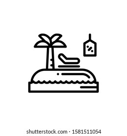 Island Icon Outline Vector. Holiday Sale Icons. Online Shop Ikon.