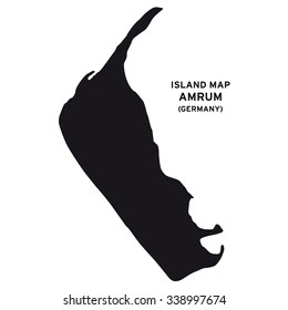 Island map of Amrum (Germany)