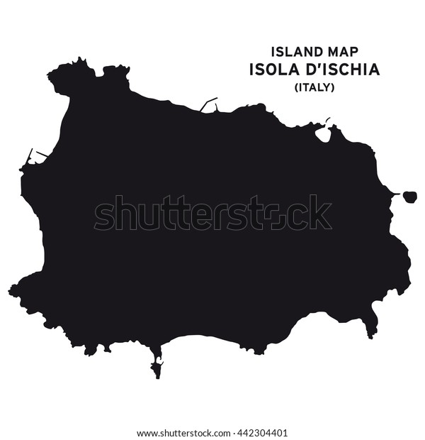 Island Map Isola D Ischia Italy Stock Vector Royalty Free