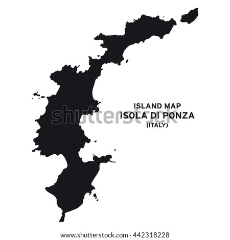 Island Map Isola Di Ponza Italy Stock Vector Royalty Free