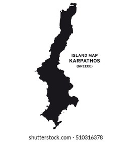 Island map of Karpathos (Greece)