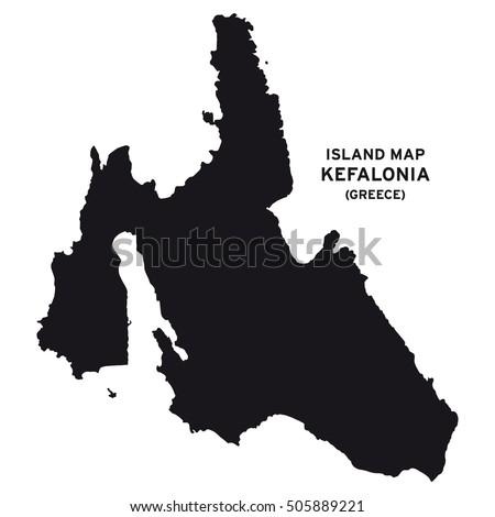Island Map Kefalonia Greece Stock Vector Royalty Free 505889221