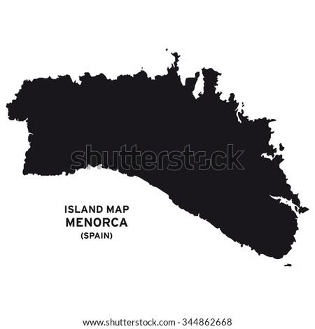Island Map Menorca Spain Stock Vector Royalty Free 344862668