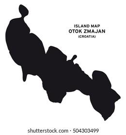 Island map of Otok Zmajan (Croatia)