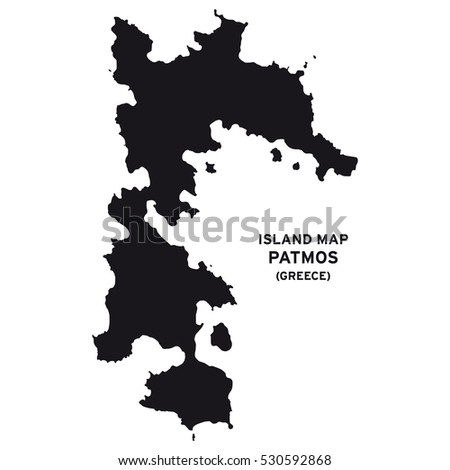 Island Map Patmos Greece Stock Vector Royalty Free 530592868