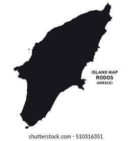 Island map of Rodos (Greece)