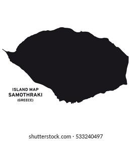 Island map of Samothraki (Greece)