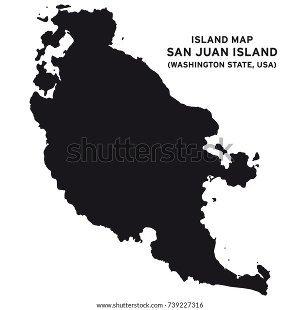 Island Map San Juan Islandwashington State | Signs/Symbols ...