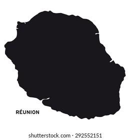 Réunion Island map vector