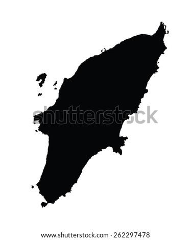Rhodes Island Greece Map.Island Rhodes Greece Map Vector Map Stock Vector Royalty Free