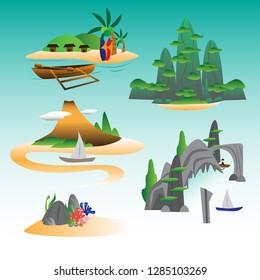 Islands Vector Set