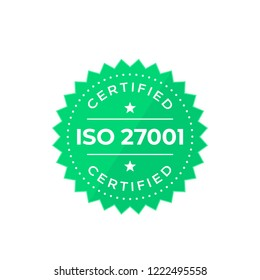 ISO 27001 badge, vector