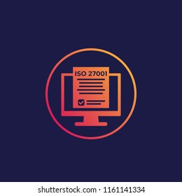 ISO 27001 information security standard icon