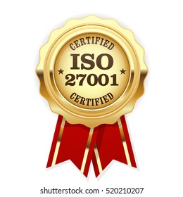 ISO 27001 standard certified rosette - Information security management