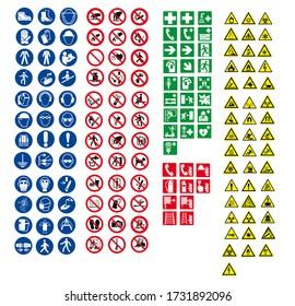 ISO 7010 SIGN WARNING SET SYMBOL SAFETY