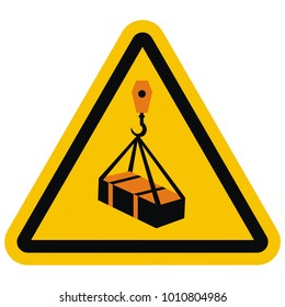 ISO 7010 W015 Warning, Overhead load