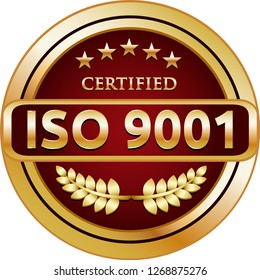 ISO 9001, 2015 Golden Certified Quality Management Label