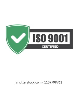 ISO 9001 certificate plate - website emblem of ISO standard