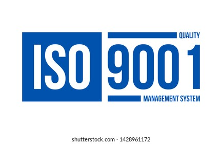 iso 9001 quality management system, vector illustration isolated on white background