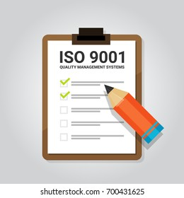 ISO 9001 quality management systems certification standard international compliance task check list target