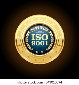 ISO 9001 standard medal - quality management