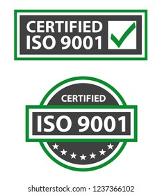 ISO 9001:2015 Certified Quality Management Labels