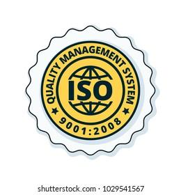 ISO 9001:2015 label illustration