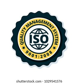 ISO 9001:2015 label illustration