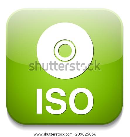 Iso Cd Dvd Button Stock Vector (Royalty Free) 209825056