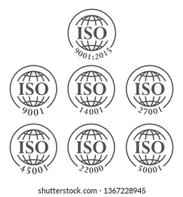 ISO icon, vector