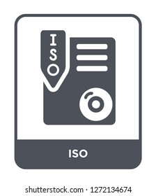 iso icon vector on white background, iso trendy filled icons from File type collection, iso simple element illustration
