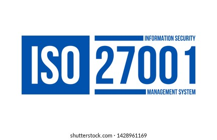 iso information security management system, vector illustration isolated on white background