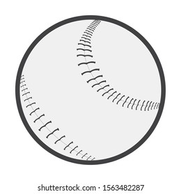 Isoalted baseball ball. Softball play - Vector illustration