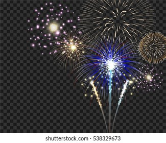 isolate firework bursting in vector illustration. Template for celebration concept