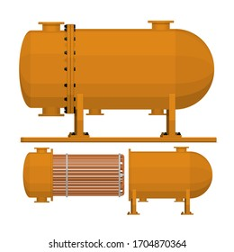 Isolate Heat exchanger on white background