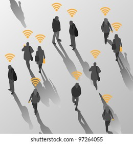 Isolate of people in wireless land