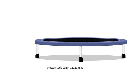 Isolate trampoline on transparent background