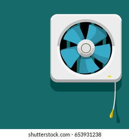 Isolate Ventilator on blue background