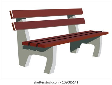 Isolate wooden bench
